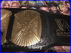 WWE Winged Eagle Replica Wrestling Belt Adult Size Signed Bret Hart etc