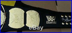 WWE Wrestling Belt Winged Eagle Championship SIGNED Bret Hart & Ultimate Warrior