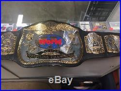 WWF Championship Belt Adult Title Belt Signed Nasty Boys Jimmy Hart Sunny