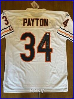Walter Payton Sweetness Signed Autographed Bears Authentic Jersey JSA LOA