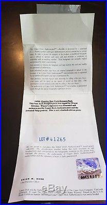Wayne Gretzky New York Rangers UDA Autographed Signed Hockey Puck Upper Deck