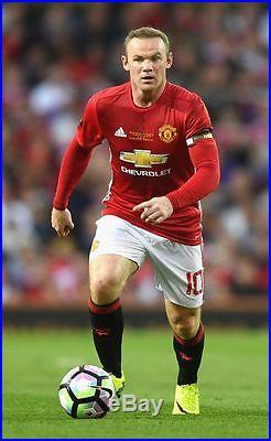Wayne Rooney Signed Manchester United Testimonial Shirt & Coa Not Match Worn