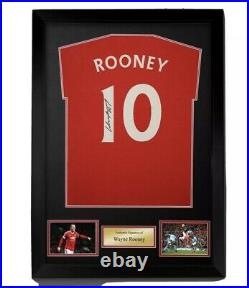 Wayne Rooney signed and numbered red T-shirt framed ready to hang superb £110