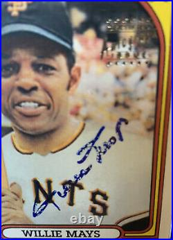 Willie Mays 1996 Topps CERTIFIED Autograph Issue 1972 SP Signed On Card Auto PSA