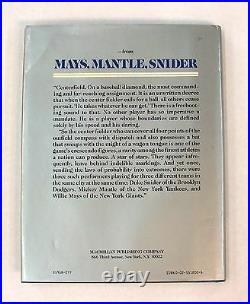 Willie Mays Mickey Mantle Duke Snider Signed Book Autograph Auto JSA Certified