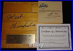 Wilt Chamberlain La Los Angeles Lakers Forum Signed Autographed Lakers Coa Rare