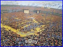 Wrestlemania III signed 20x16 Autographed by Hulk Hogan, Bret Hart Bobby Heena
