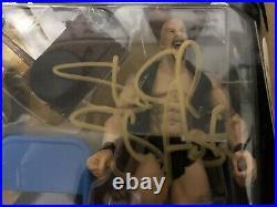 Wwe Wwf Signed Classic Superstars Bret Hart Steve Austin 2 Pack Moc Jakks