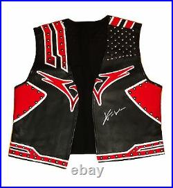 Wwe Xavier Woods The New Day Ring Worn And Hand Signed Wrestling Vest With Coa