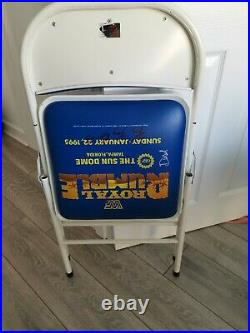 Wwf Wwe 1995 Royal Rumble Rare Ppv Ringside Chair Signed