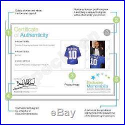 Zinedine Zidane Signed Framed France 1998 Football Shirt Autographed Sport